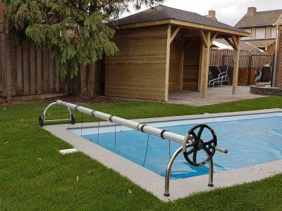 overkapping met zwembad