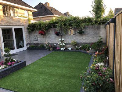 tuin en aanbouw